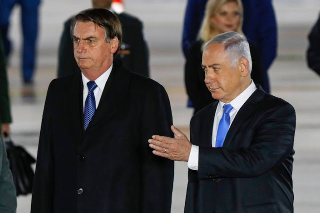 "O primeiro-ministro israelense, Benjamin Netanyahu, disse que Jair Bolsonaro é ""amigo dele"" e destacou a importância mundial do Brasil."