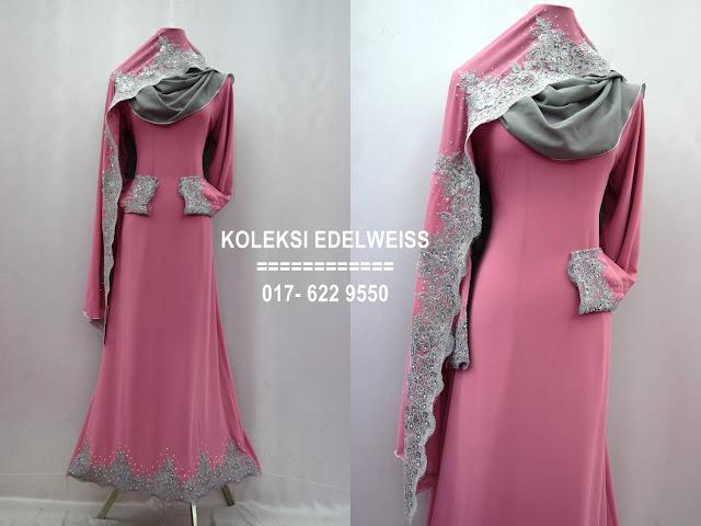 Baju kahwin Baju Tunang NIkah Simple Warna Pink Belacan