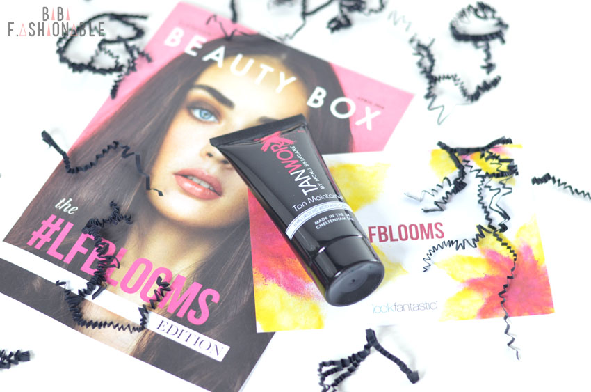Unboxing Lookfantastic #LFBLOOMS Box TanWorx Tan Maintainer
