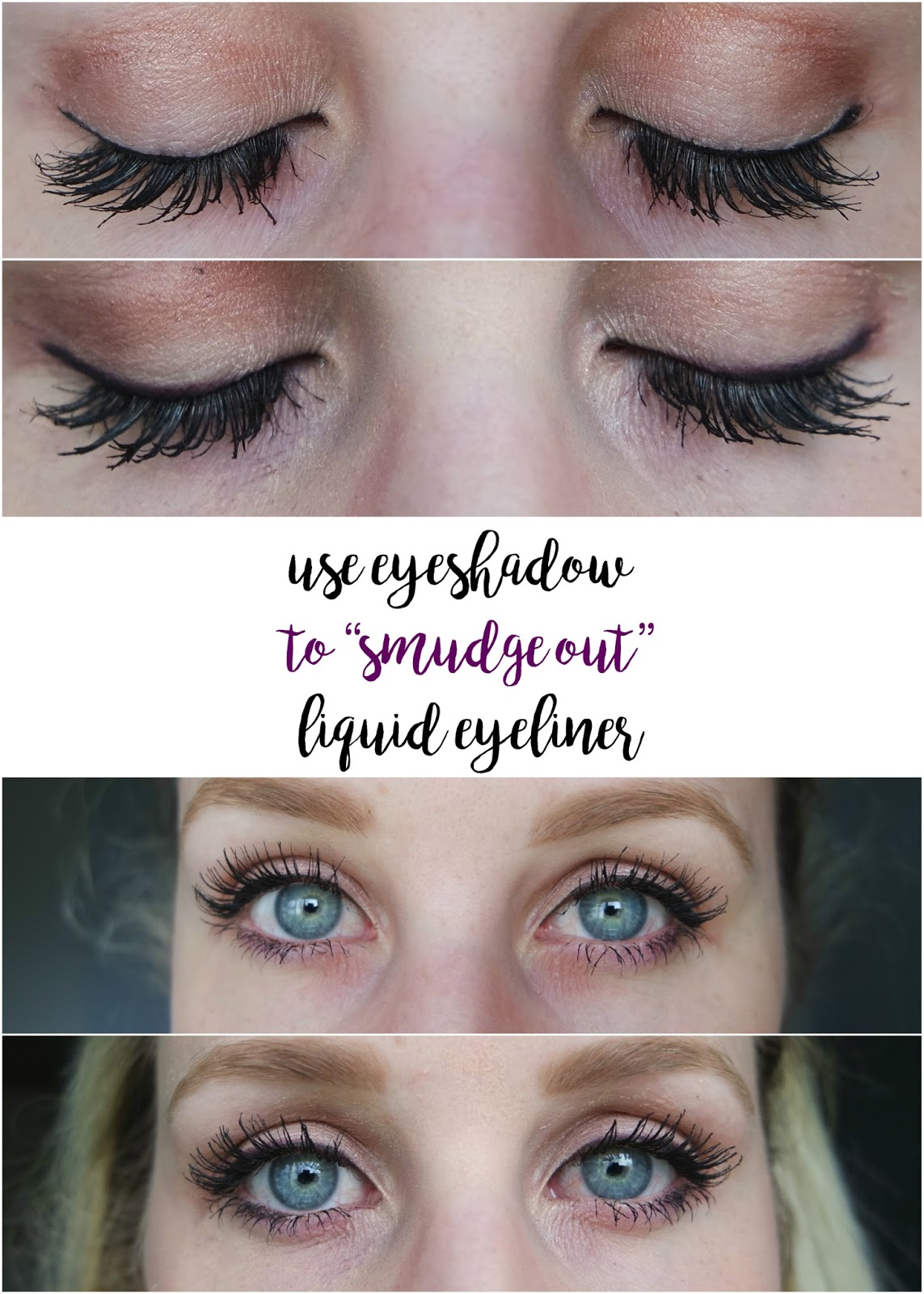 use eyeshadow over liquid eyeliner