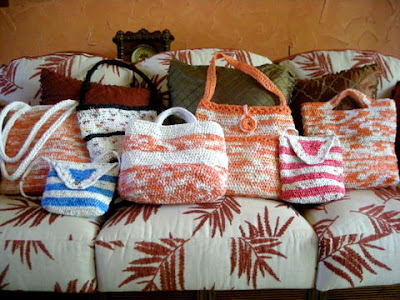 La Gringa's recycled plastic market bags