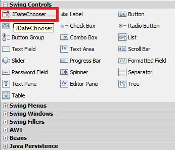 Menambahkan Date Picker di Java Netbeans