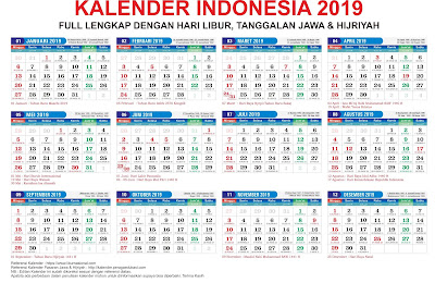 Download Kalender 2019 Lengkap Corel Draw