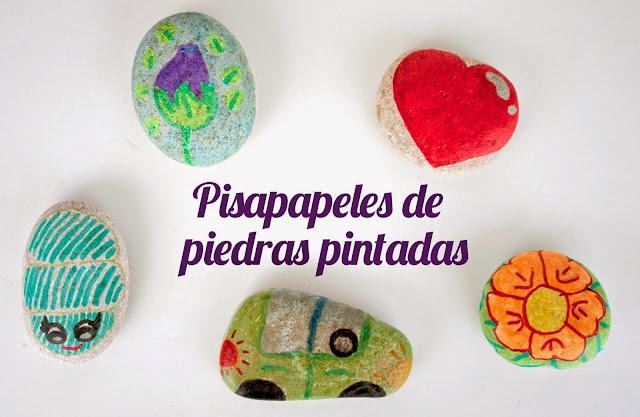 Pisapapeles de piedras pintadas