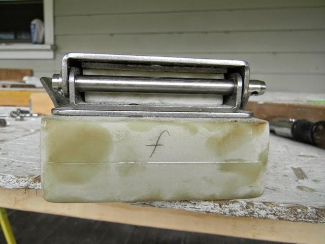 Ericson 25, Oystercatcher: Spars, Mast Hinge, Part 6: Drilling