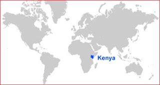 Gambar Peta letak Kenya