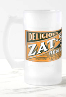 Zat-So 5¢ Root Beer Frosted Glass Beer Mug