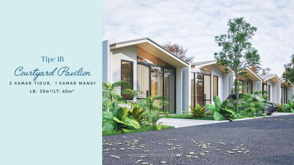 Rumah Waterfront Estate Cikarang Tipe 1B Courtyard Pavilion