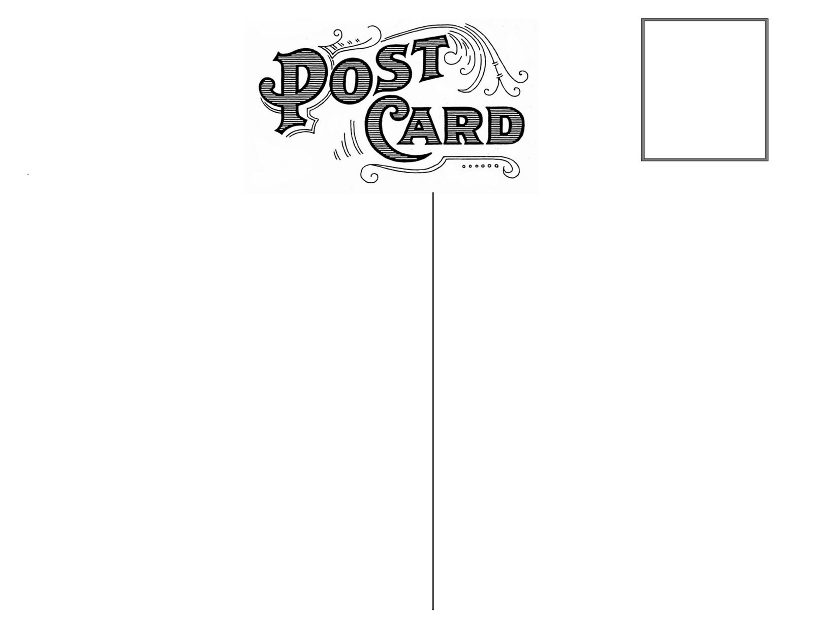 Free Printable Postcard Templates - Postcard template free download