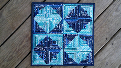 Teal Mini Swap 2016 Quilt by Laura Piland Slice of Pi Quilts
