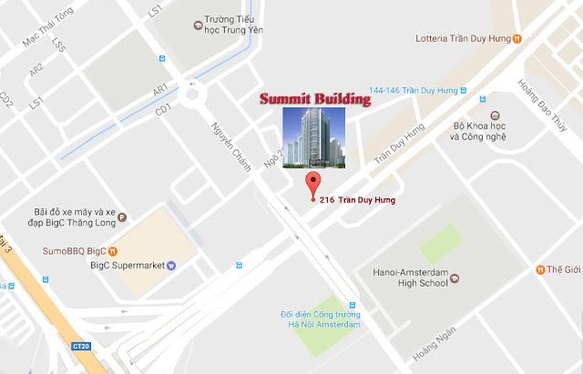 Vị trí chung cư Summit Building