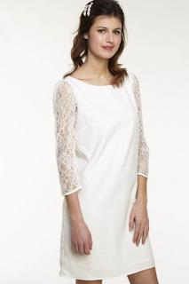 robe droite manches en dentelle collection mariage en vue naf naf 2019