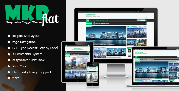 Download MKRflat Free – Responsive Magazine/News Blogger Theme