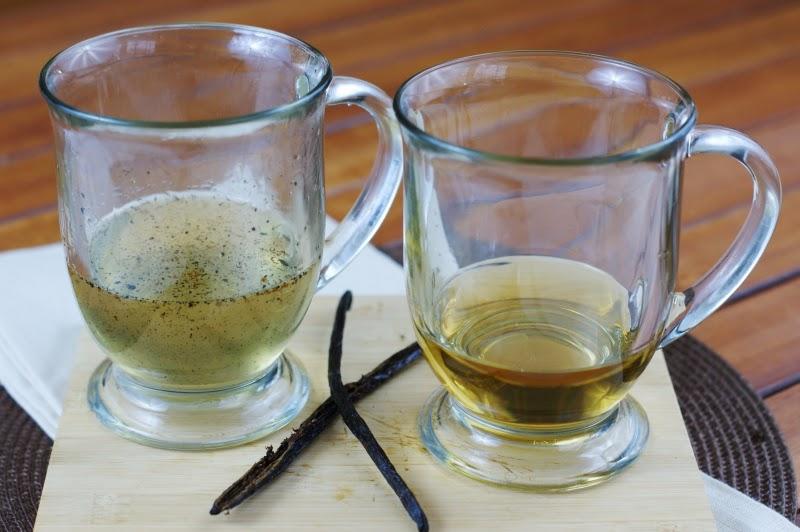 Comparison of Vanilla Simple Syrup Made with Vanilla Bean vs. Vanilla Extract Image