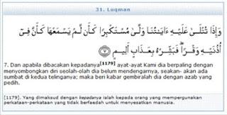 Bergembiralah dengan Azab yang Pedih hikmah 313 Surat Luqman 7