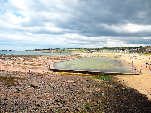 Outdoor swimming pool in North Berwick, East Lothian, Scotland