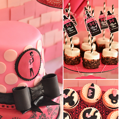 Pink & Black Glam Baby Shower with Printables