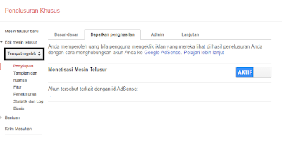 Monetaze google custom search pada blog