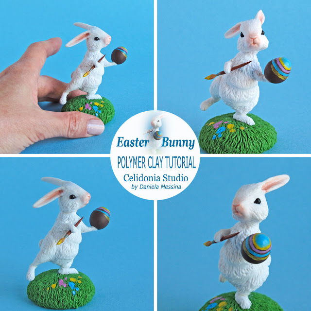 Easter Bunny Coniglietto Pasquale in Polymer Clay