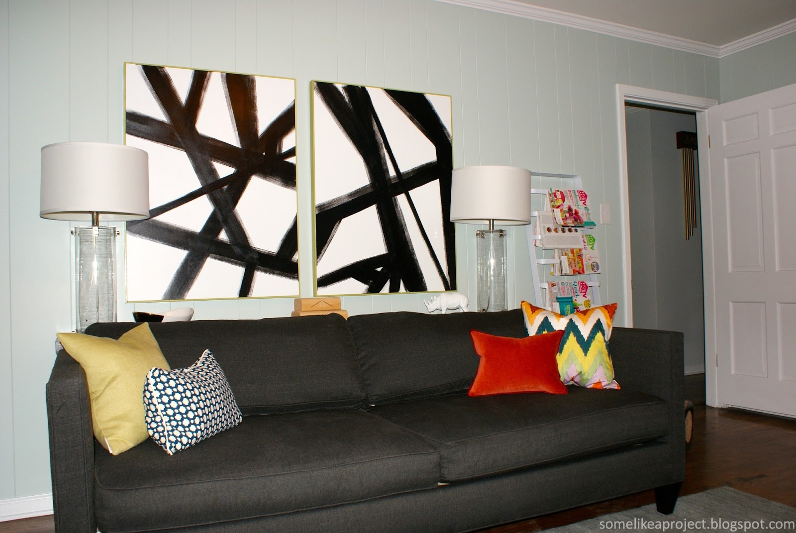 & Some Like A Project: Large DIY Black u0026 White Abstract Art
