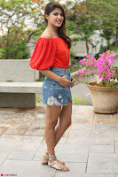 Rhea Chakraborty in Red Crop Top and Denim Shorts Spicy Pics ~  Exclusive 138.JPG
