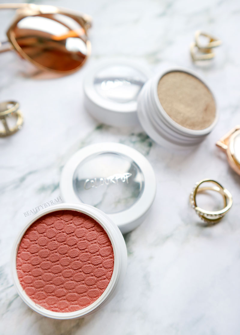 Colourpop Peachy Keen Eyeshadow Quad Makeup Tutorial and Blush in Birthday Suit