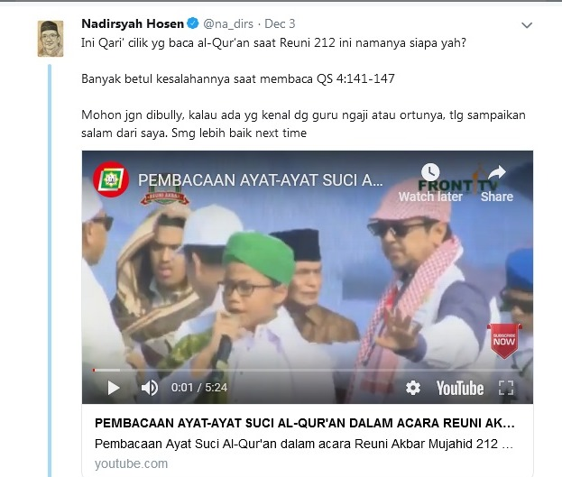 Prof Nadirsyah Hosen Bongkar Banyak Kesalahan Pembaca Al Quran di Reuni Alumni 212