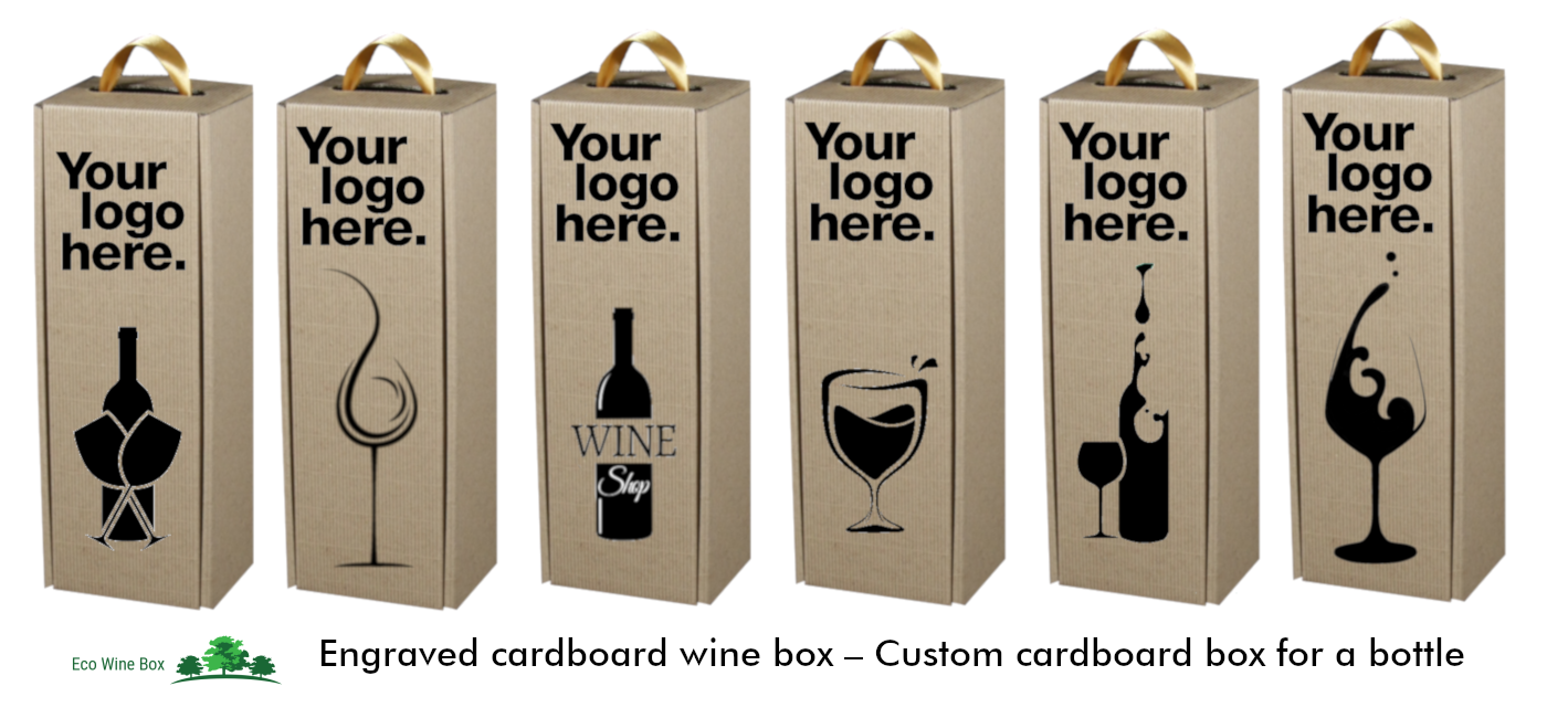 Eco wine box with logo