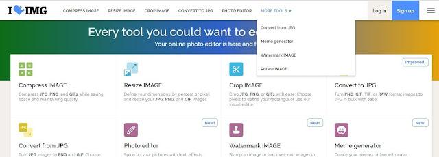 موقع iloveimg  لضغط حجم الصور