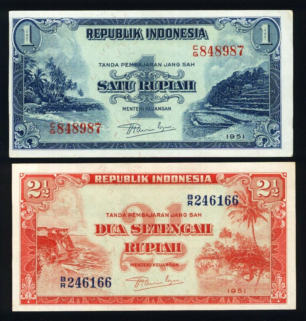 uang kuno seri Pemandangan Alam tahun 1951
