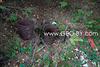 Jerusalem in the Naliboki forest. Two rusty buckets
