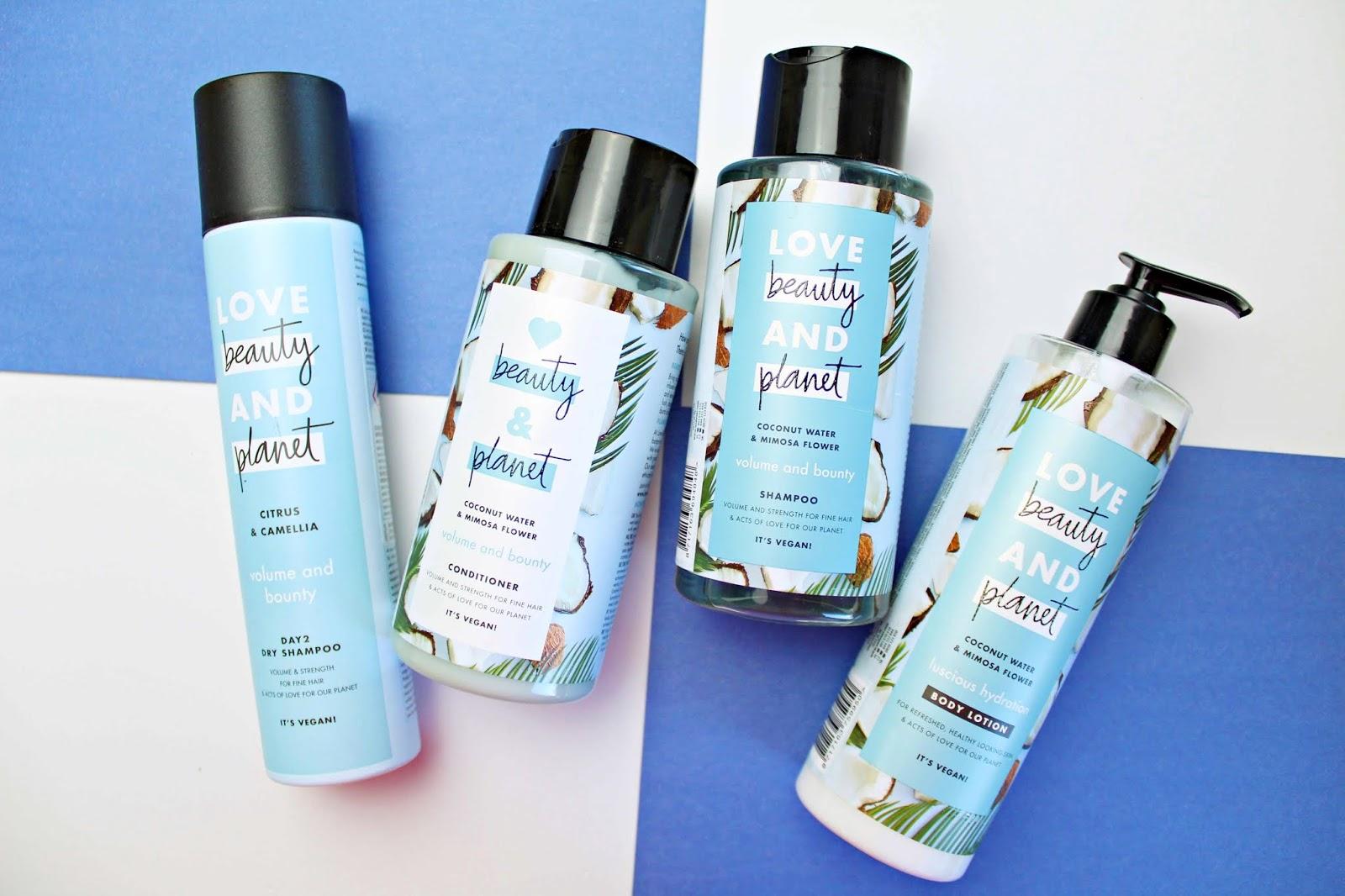 Love Beauty and Planet - kolekcja kosmetyków z wodą kokosową i kwiatem mimozy