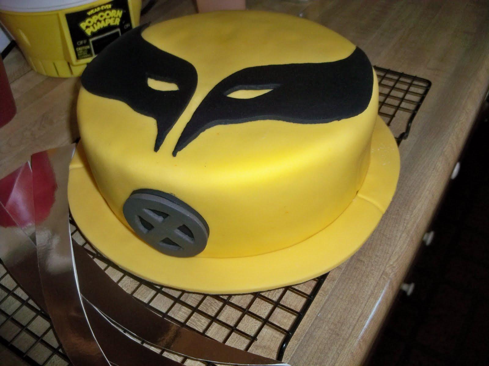 Melinda Makes Cake Wolverine Fondant Cake