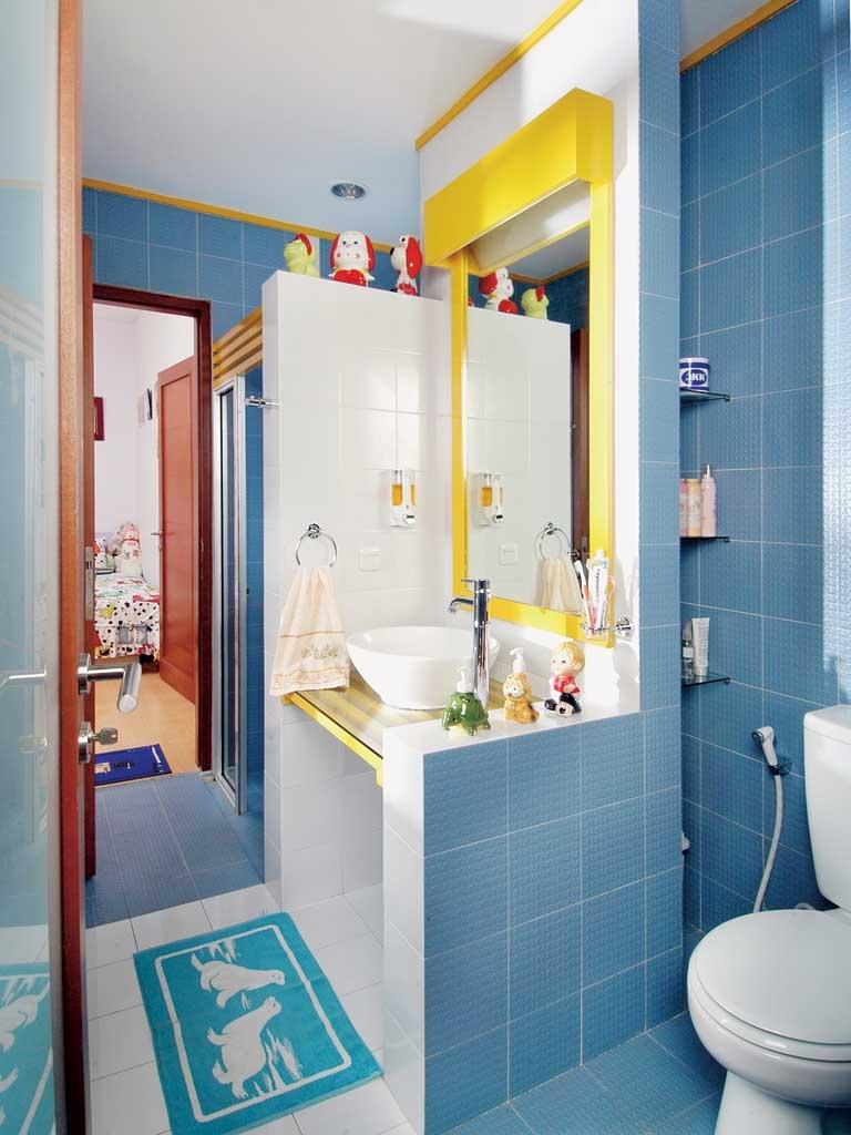 50 gambar kamar mandi sederhana warna cat biru | desainrumahnya