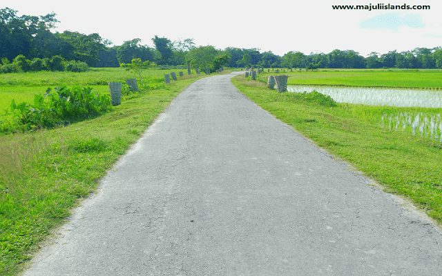 Owdubi Road Of Majuli Island