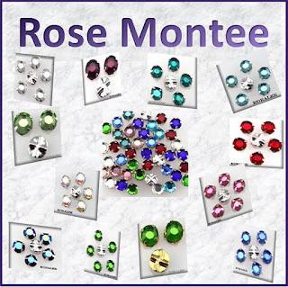 Rose montee - strassi-helmet, ommeltavat kivet - korutarvikkeet, helmikauppa netissä