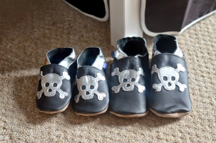 inch blue, pirate slippers, leather slippers for kids