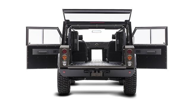 Bollinger Motors B1 pass-through hatch
