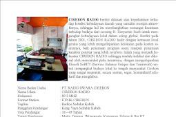 SEJARAH BERDIRINYA CIREBON RADIO Cirebon Radio etnikom network
