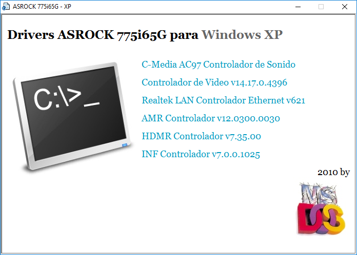 ASROCK 775I65G C-MEDIA AC97 AUDIO DRIVER FOR WINDOWS 8