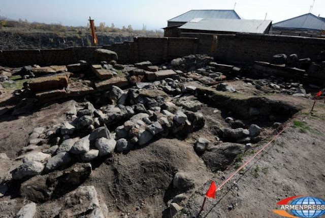 Early medieval tombstones unearthed in Armenian excavation site