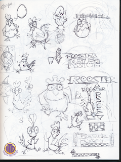Imagine That! Design rooster characger development sketches for the game Rooster Race