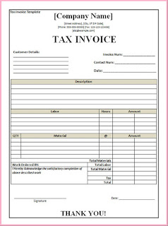 tax invoice template word
