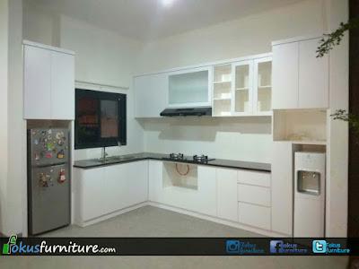 Kitchen set kalideres, Kitchen set hpl white matte kalideres permai Jakarta barat