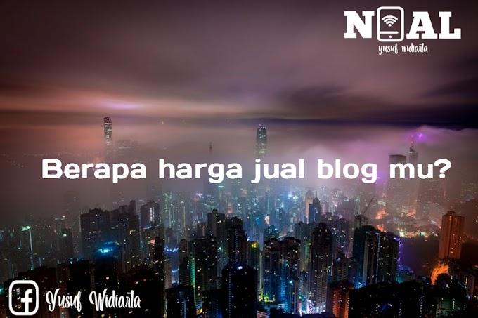 Cara mengecek harga jual blog