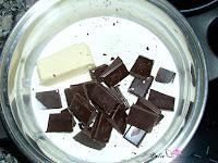 Nata, mantequilla y chocolate derritiéndose