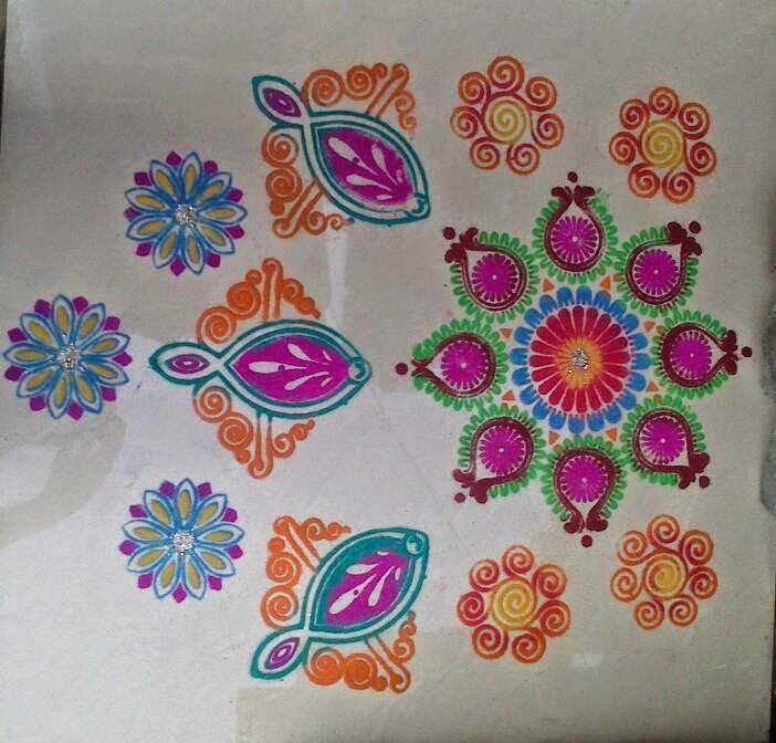 New Year 2015 Rangoli 4