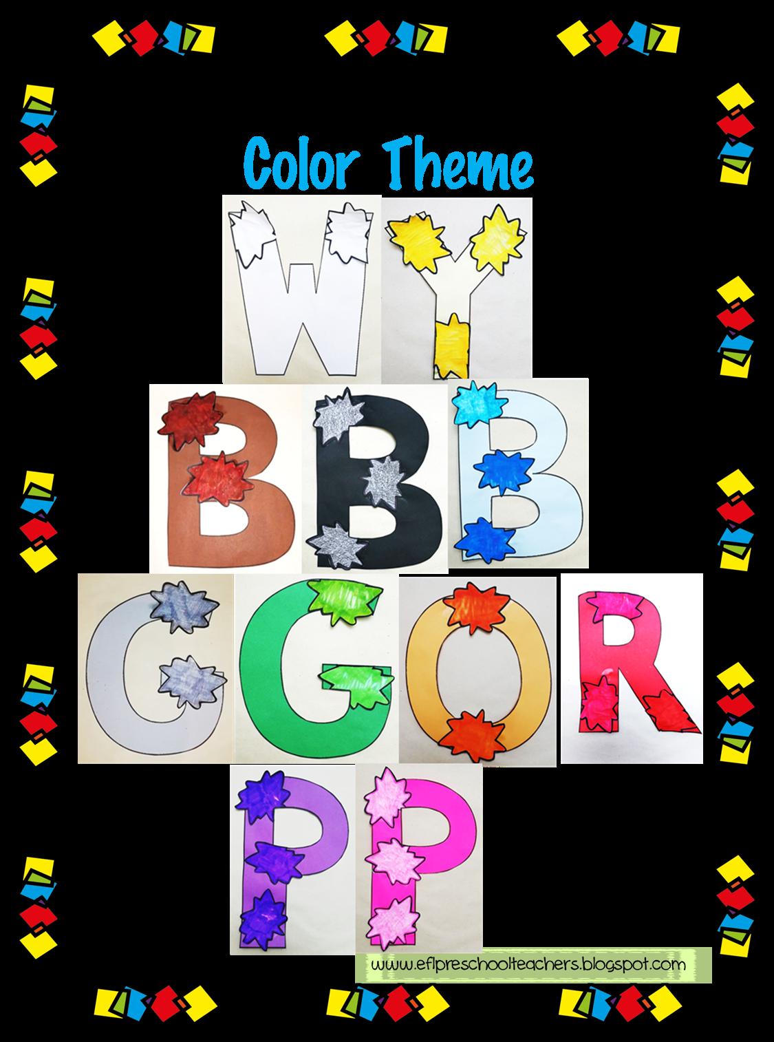 Esl Efl Preschool Teachers Color Worksheets