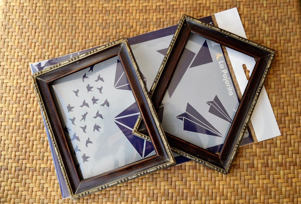 Cuadros DIY con stencil y pinturas de la Pajarita, haremos unos cuadros maravillosos y muy fáciles.
