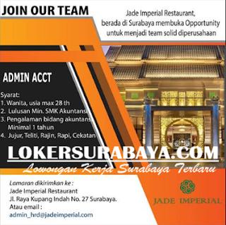 Lowongan Kerja di Jade Imperial Restaurant Surabaya Terbaru Mei 2019